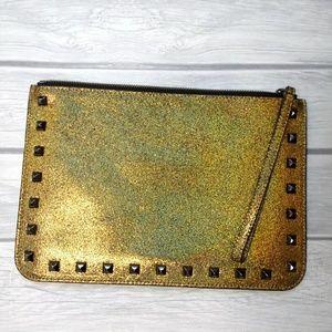 Rebecca Minkoff leather stud wristlet